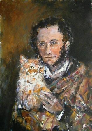 Картинки а.с.пушкина и кот