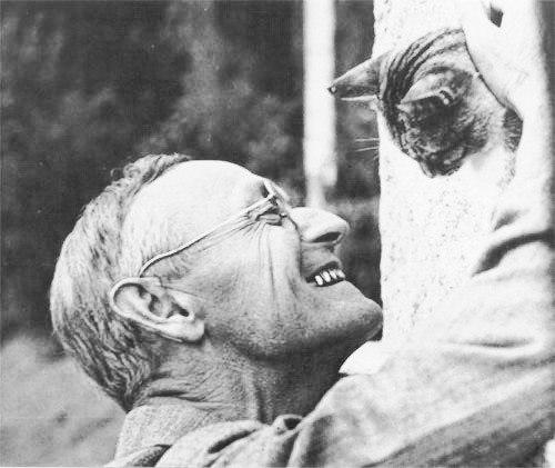 Герман Гессе — гуманист с образцовым литературным стилем и искренний ценитель кошек. У великого немецкого писателя был любимый кот Лев.