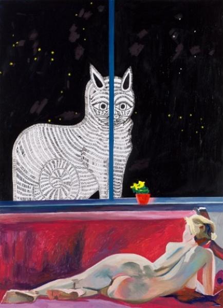 РОСТИСЛАВ ЛЕБЕДЕВ Ночной кот и натурщица Источник: timeout.ru